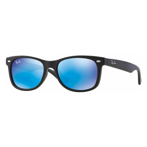 Ray-Ban New wayfarer junior Unisex Sunglasses Lenses: Blue, Frame: Black - RJ9052S 100S55 48-16