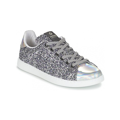 Victoria DEPORTIVO BASKET GLITTER women's Shoes (Trainers) in Silver