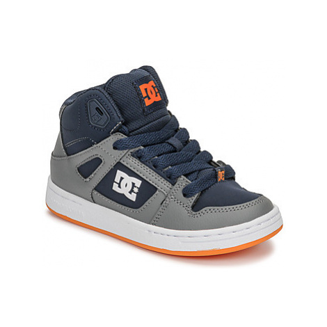 DC Shoes PURE HIGH-TOP girls's Children's Shoes (High-top Trainers) in Grey