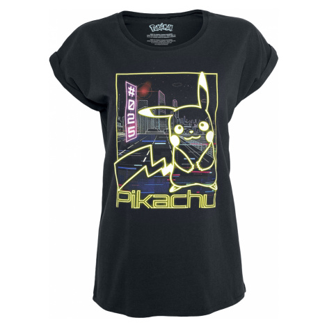 Pokémon - Pikachu - Neon - Girls shirt - black