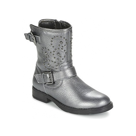 Geox SOFIA girls's Children's Mid Boots in Silver
