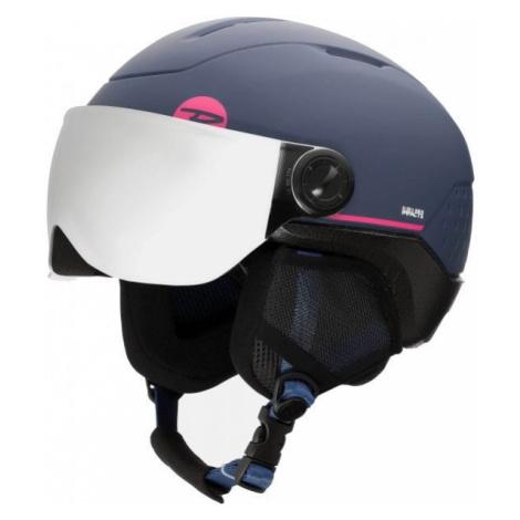 Rossignol WHOOPEE VISOR IMPACTS dark blue - Kids' ski helmet