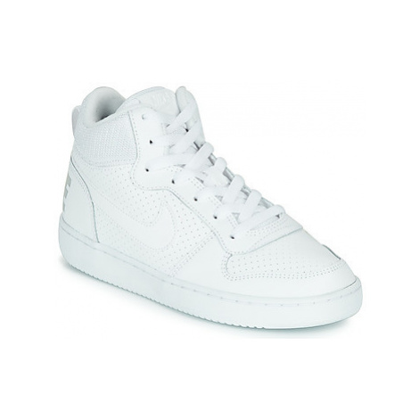 Nike COURT BOROUGH MID GRADE SCHOOL girls's Children's Shoes (High-top Trainers) in White