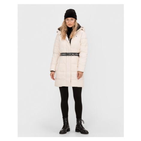 Calvin Klein Coat White Beige