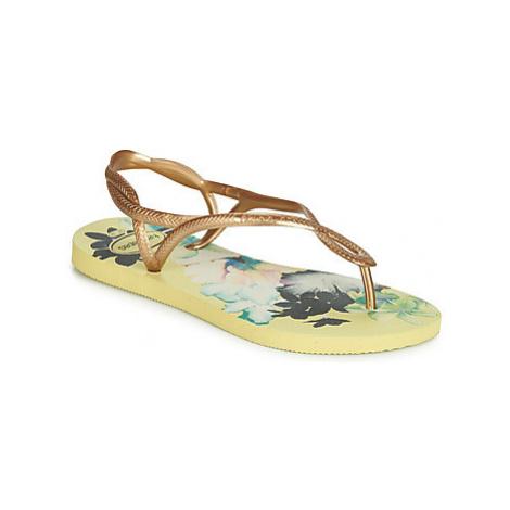 Havaianas LUNA PRINT women's Sandals in Yellow