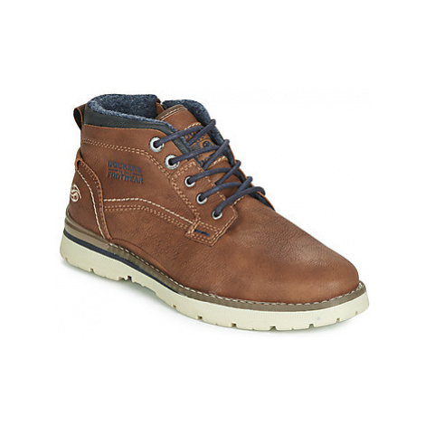 Dockers by Gerli NATALIO men's Shoes (High-top Trainers) in Brown