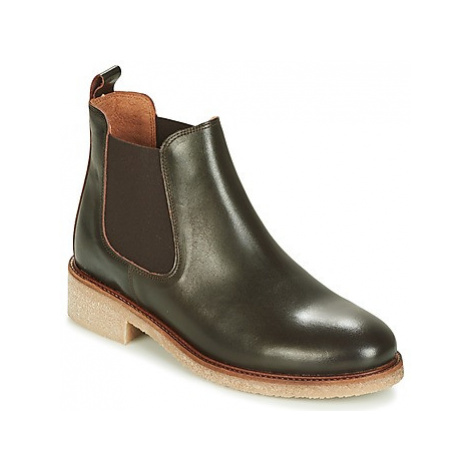 Bensimon BOOTS CREPE women's Mid Boots in Green
