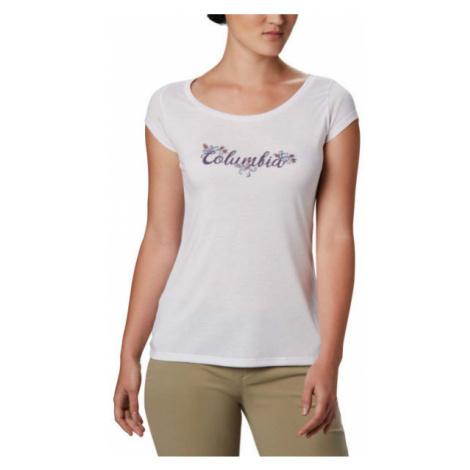 Columbia SHADY GROVE SS TEE white - Women's T-shirt