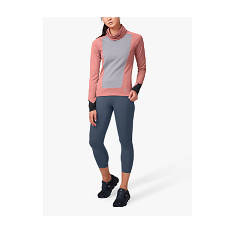 On Weather Cowl Neck Long Sleeve Running Top, Dustrose/Fossil