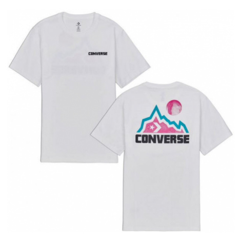Converse MOUNTAIN MOON GRAPHIC SHORT SLEEVE T-SHIRT white - Men's T-Shirt