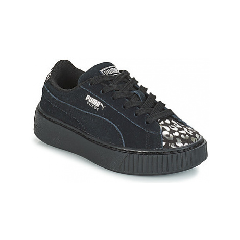 Puma G PS S PLATFORM ATHLUXE.BL girls's Children's Shoes (Trainers) in Black