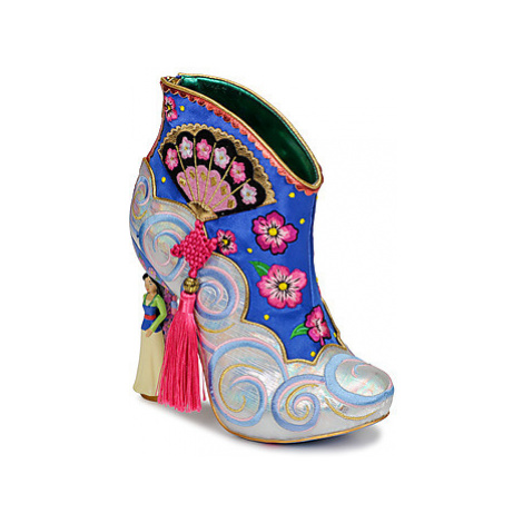 Irregular Choice BE TRUE TO WHO YOU ARE women's Low Ankle Boots in Blue