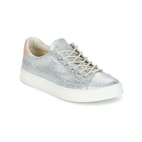 Esprit SYDNEY LACE UP women's Shoes (Trainers) in Silver