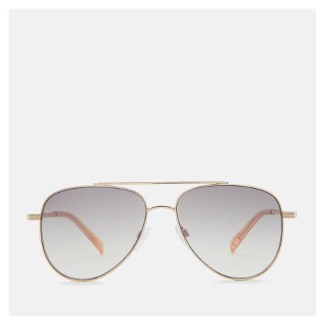 Le Specs Women's Evermore Aviator Sunglasses - Gold