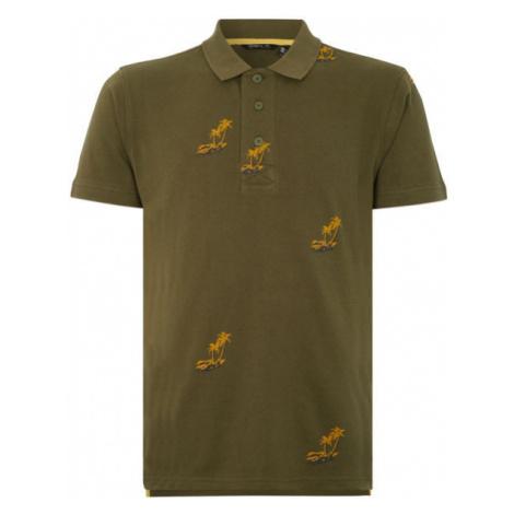 O'Neill LM PALM AOP POLO dark green - Men's polo shirt