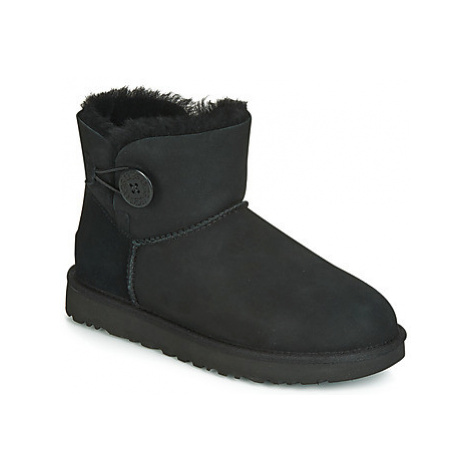 UGG MINI BAILEY BUTTON II women's Mid Boots in Black