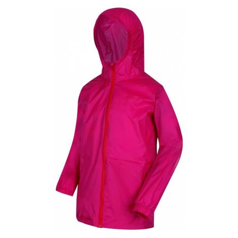 Regatta Kids Pack It III Waterproof Packaway Jacket-Cabaret-13 Years