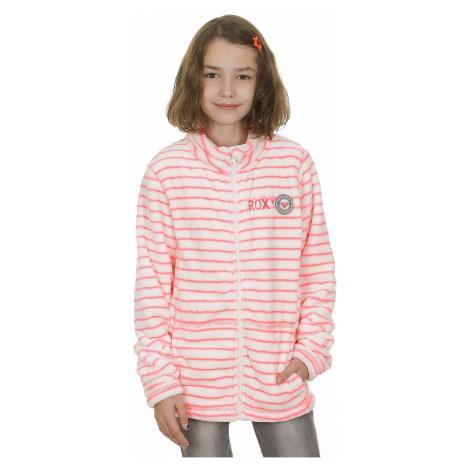 jumper Roxy Igloo Girl Zip - MKJ9/Teddy Stripe/Diva Pink