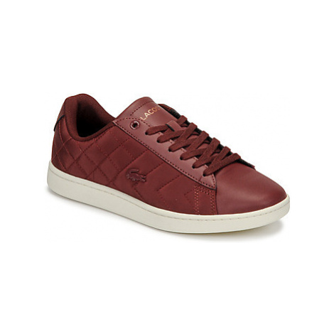 Lacoste CARNABY EVO 319 8 SFA women's Shoes (Trainers) in Red