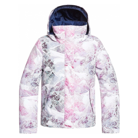 jacket Roxy Jetty - WBB2/Bright White Mysterious View - girl´s