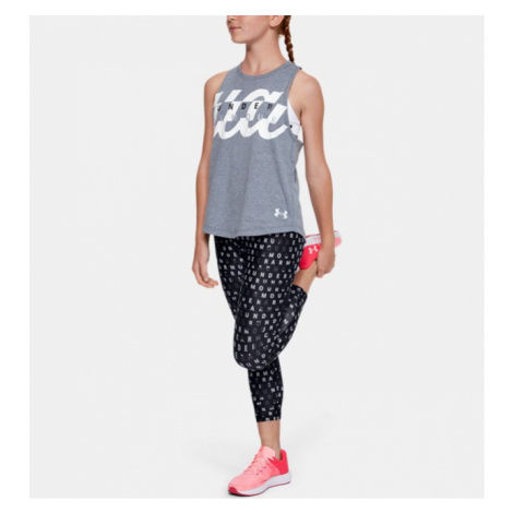 Girls' HeatGear Armour Printed Ankle Crop Under Armour