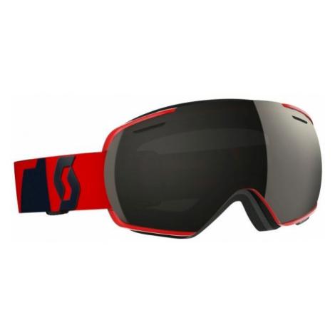 Red snowboarding equipment