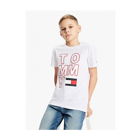 Tommy Hilfiger Boys' Organic Cotton Logo T-Shirt, White