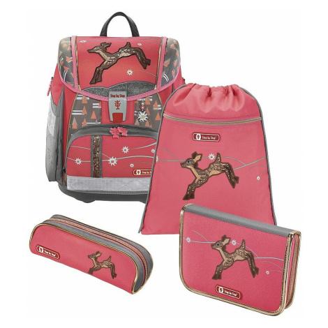 schoolbag Hama - Step By Step 139207/Touch 2 Srneček - Pink/Gray - kid´s