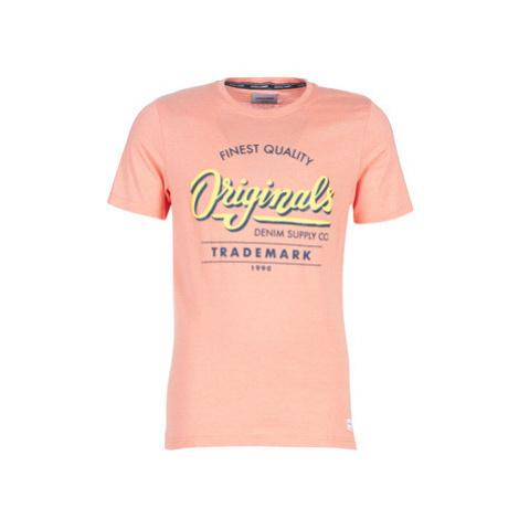 Jack Jones JORQUINN men's T shirt in Pink Jack & Jones