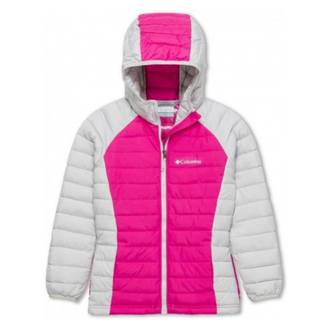 Columbia POWDER LITE GIRLS HOODED JACKET pink - Girls' jacket