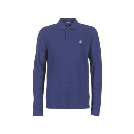 G-Star Raw CORE POLO L/S men's Polo shirt in Blue