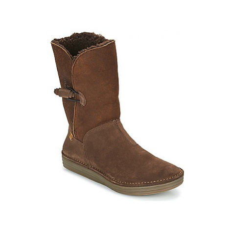 El Naturalista RICE FIELD women's Mid Boots in Brown