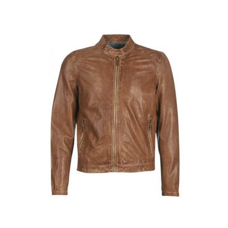 Redskins MACQUEEN men's Leather jacket in Brown