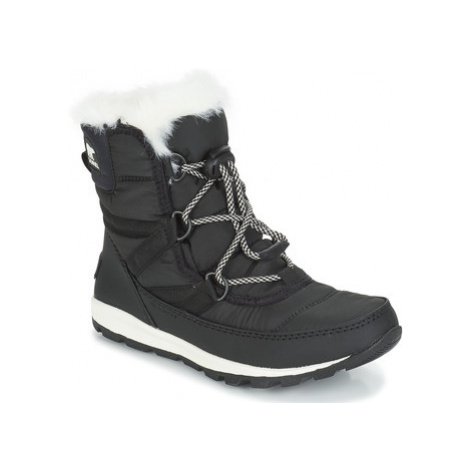 Sorel YOUTH WHITNEY SHORT LACE girls's Children's Mid Boots in Black