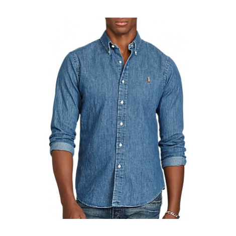 Polo Ralph Lauren Long Sleeve Slim Fit Denim Shirt, Blue