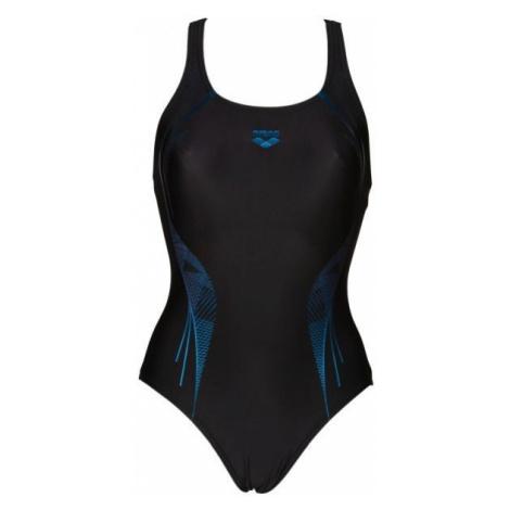 Arena W SLINKY V BACK ONE PIECE black - Women's one-piece swimsuit