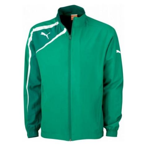 Puma SPIRIT WOVEN JACKET JR green - Children's sports jacket