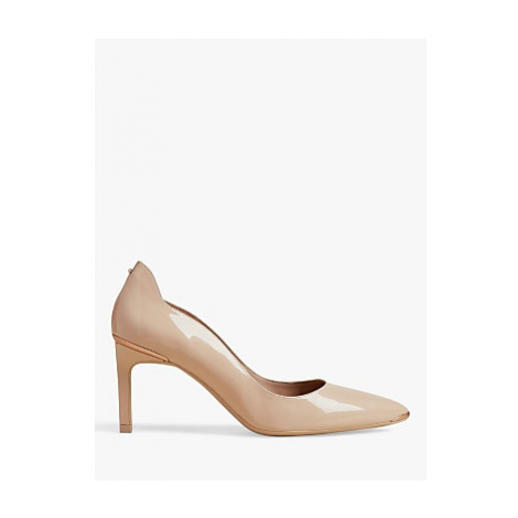 Ted Baker Eriinl Stiletto Heel Leather Court Shoes, Pink Nude