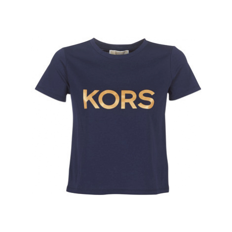 MICHAEL Michael Kors LOGO FOIL BABY TEE women's T shirt in Blue