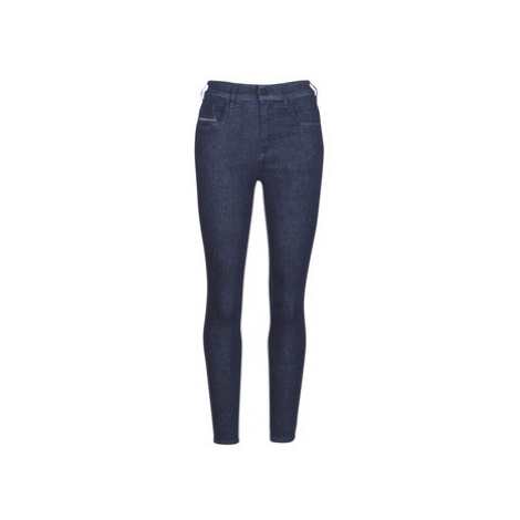 Diesel SLANDY HIGH women's Skinny Jeans in Blue