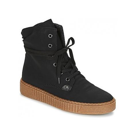 Rieker KOLLY women's Shoes (High-top Trainers) in Black
