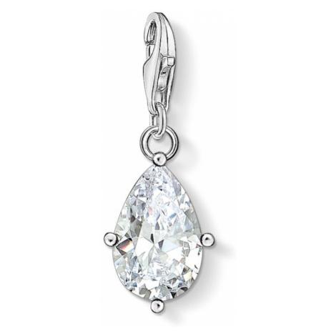THOMAS SABO Silver Pear Cut Stone Charm