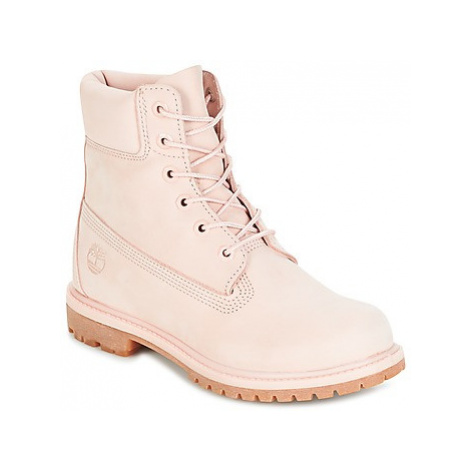 Timberland 6IN PREMIUM BOOT - W women's Mid Boots in Pink