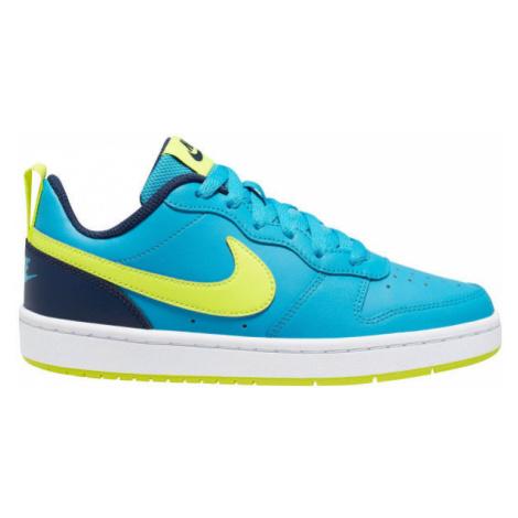 Nike COURT BOROUGH LOW 2 GS blue - Kids' leisure shoes