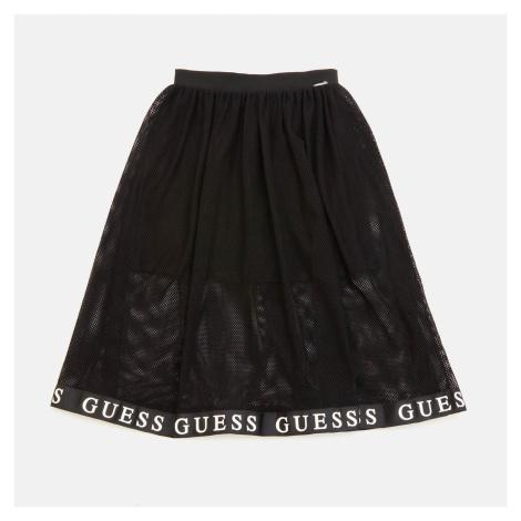 Guess Girls' Stretch Net Skirt - Jet Black