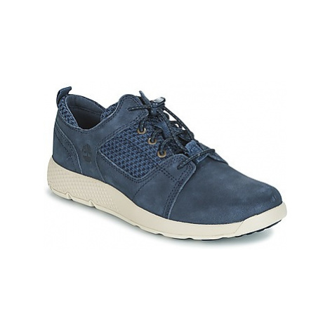 Timberland FLYROAM L/F OXFORD girls's Children's Shoes (Trainers) in Blue