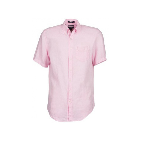 Gant THE LINEN SHIRT men's Short sleeved Shirt in Pink