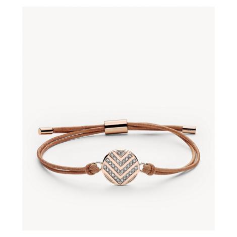 Fossil Women's Chevron Glitz Bracelet - Rose Gold