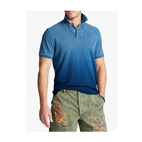 Polo Ralph Lauren Regular Fit Dip Dye Polo Shirt, Indigo