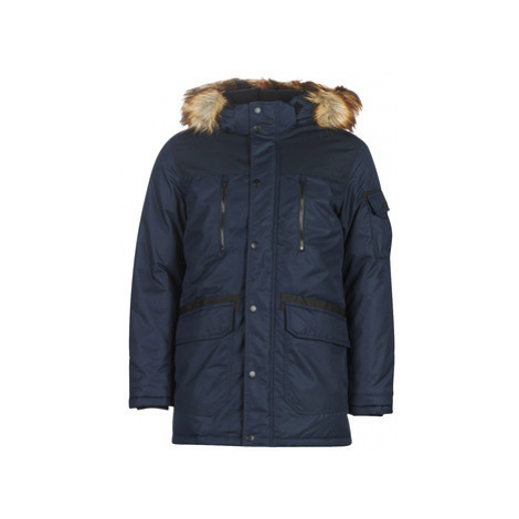 Jack Jones JCOGLOBE men's Parka in Blue Jack & Jones